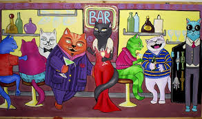 Cats at a Bar